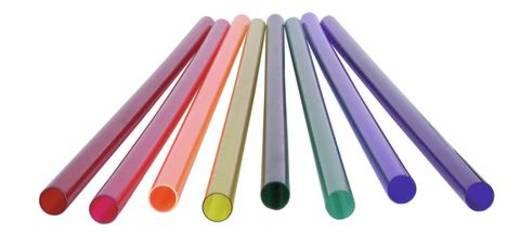 Farbrohr für T8 Neonröhre, 59cm gelb 590 mm Gelb