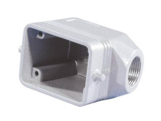 Tüllengehäuse 6-Pol ILME PG13,5, Winkel Grau