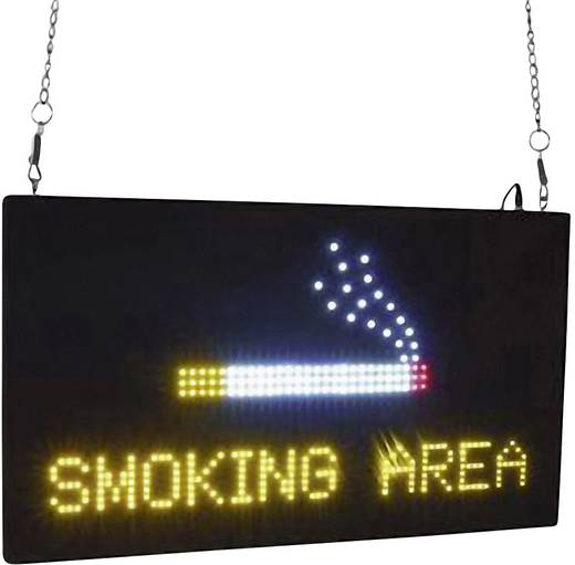EUROLITE LED Schild SMOKING AREA Schwarz