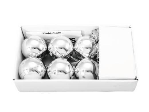 LED-Dekobeleuchtung Kugeln Warm-Weiß LED Europalms 83500910 Silber