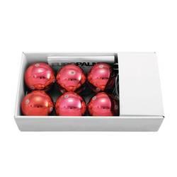 Vianočné gule sada 6 ks Europalms 83500911 červená