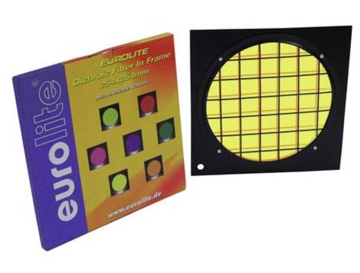 Dichroitischer Farbfilter Eurolite Schwarz-Gelb Passend für (Bühnentechnik)PAR-64