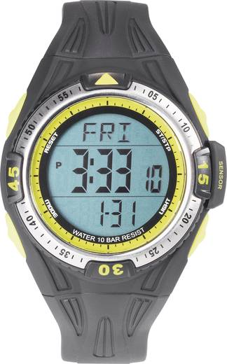 Quarz Armbanduhr 0D09016A-03 (Ø x H) 50 mm x 16 mm Schwarz Gehäusematerial=ABS Material (Armband)=Polyurethan Renkforce