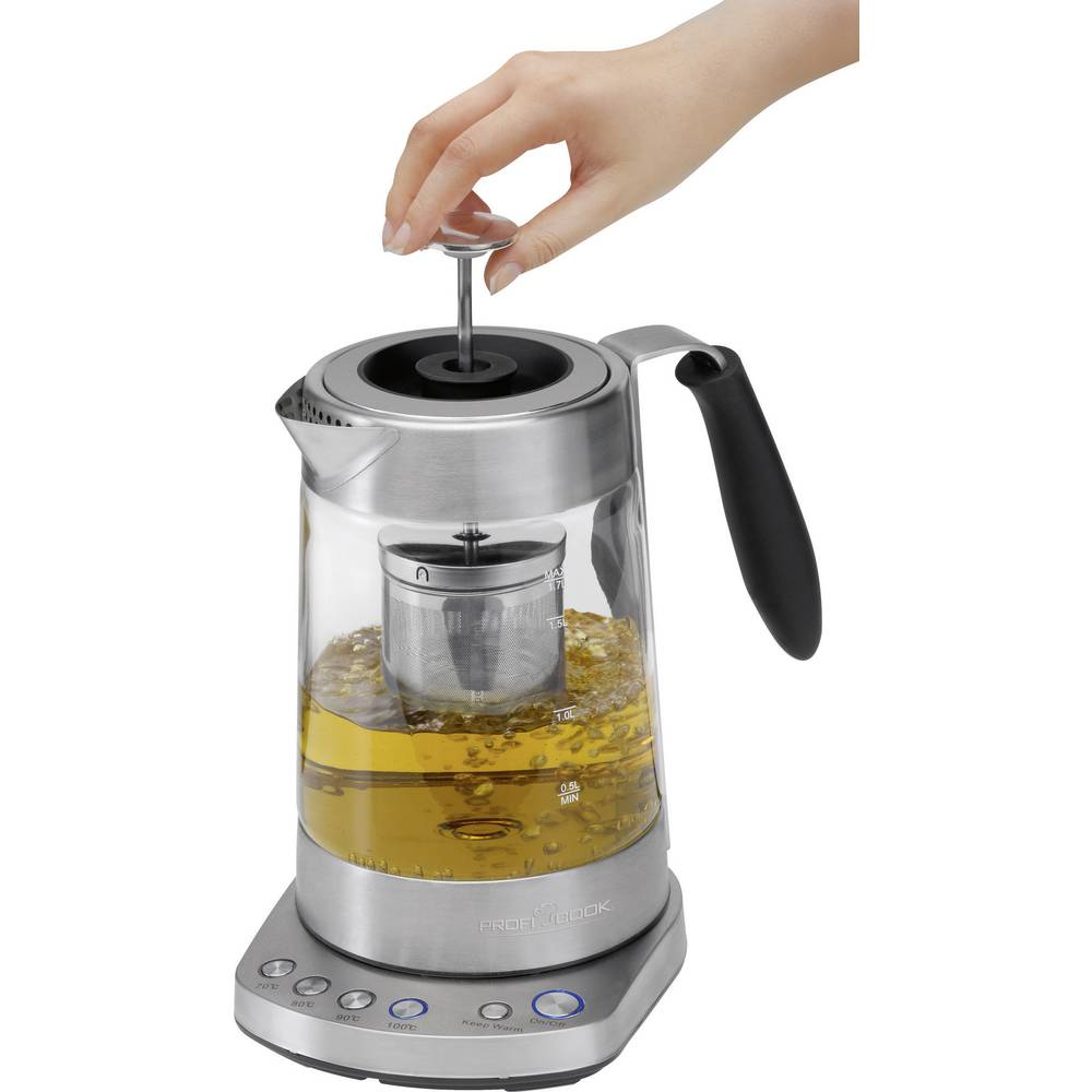 kaffee teemaschine profi cook pc wks 1020 g edelstahl glasklar im conrad online shop 1052578. Black Bedroom Furniture Sets. Home Design Ideas