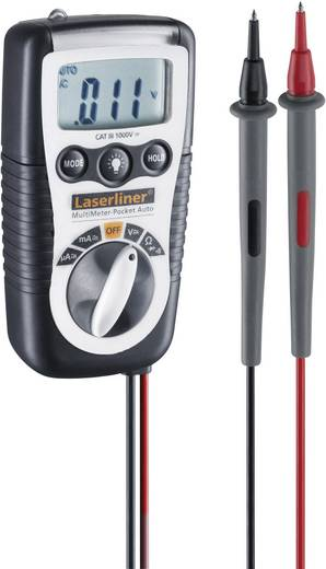 Laserliner MultiMeter-Pocket Auto Hand-Multimeter digital Kalibriert nach: DAkkS CAT III 1000 V Anzeige (Counts): 2000