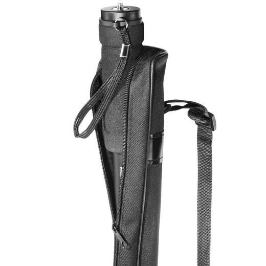 Einbeinstativ Walimex Pro 12120 1/4 Zoll Arbeitshöhe=55 - 171 cm Dunkel-Grau inkl. Tasche