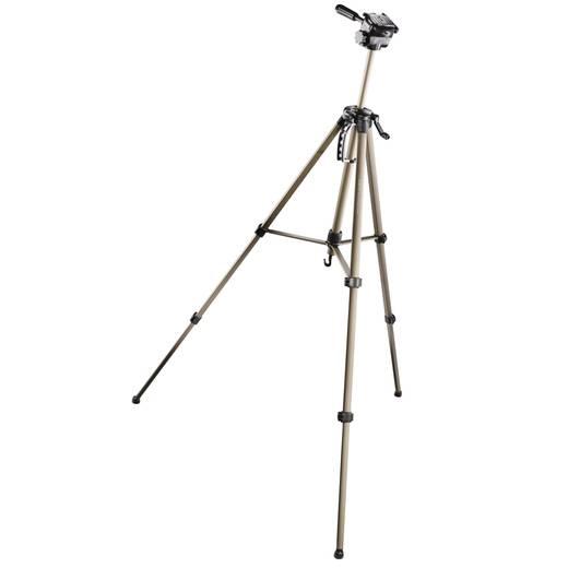 Dreibeinstativ Walimex 12125 1/4 Zoll Arbeitshöhe=63 - 165 cm Creme 3D-Neiger, inkl. Tasche