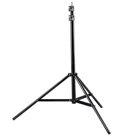 Galgenstativ Walimex Pro 12130 1/4 Zoll Arbeitshöhe=111 - 175 cm Schwarz mit Gegengewicht