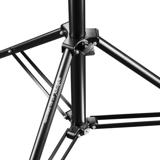 Galgenstativ Walimex Pro WT-501 1/4 Zoll Arbeitshöhe=111 - 175 cm Schwarz mit Gegengewicht