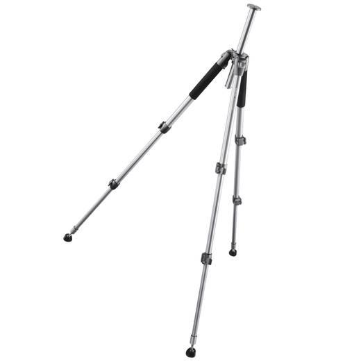 Dreibeinstativ Walimex WAL-6702 1/4 Zoll, 3/8 Zoll Arbeitshöhe=60 - 156 cm Silber inkl. Tasche, Kugelkopf
