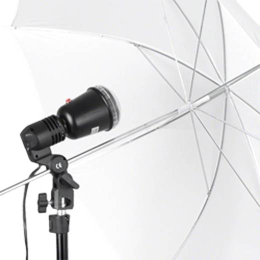 Synchronblitzlampe Walimex 40W Leitzahl bei ISO 100/50 mm=26