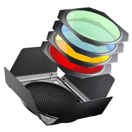 Lichtformer-Set Walimex Pro Abschirmklappen/Waben/Farbfilter (Ø) 18 cm 1 St.