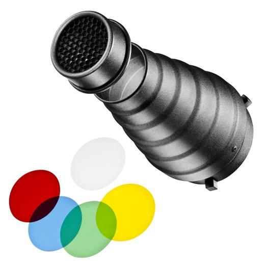 Spotvorsatz Walimex mit Universalanschluss, inkl. Wabe und Farbfilterset (Ø x L) 6 cm x 20 cm 1 St.