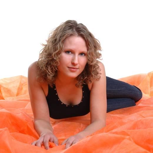 Stoffhintergrund Walimex (L x B) 6 m x 3 m Orange