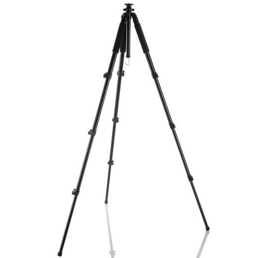 Dreibeinstativ Walimex 18835 1/4 Zoll Arbeitshöhe=38 - 185 cm Schwarz 3D-Neiger, inkl. Tasche