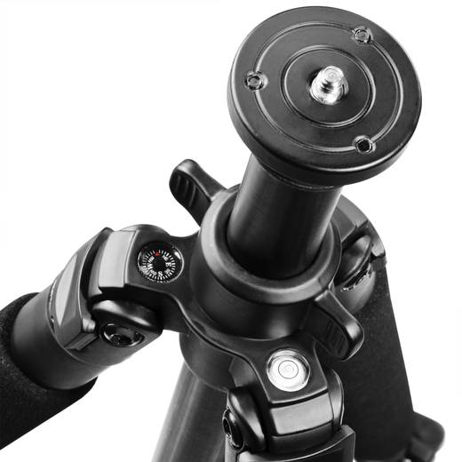 Dreibeinstativ Walimex pro Carbonstativ 1/4 Zoll Arbeitshöhe=38 - 140 cm Schwarz 3D-Neiger