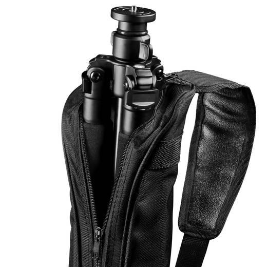 Dreibeinstativ Walimex 15753 1/4 Zoll Arbeitshöhe=38 - 140 cm Schwarz inkl. Tasche