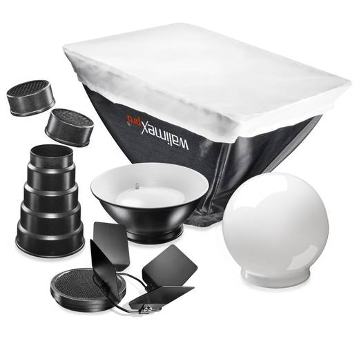 Blitzvorsatz-Set Walimex Pro Blitzvorsätze 6tlg. für Niko