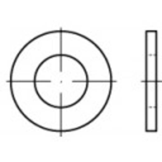 Unterlegscheiben Innen-Durchmesser: 17 mm DIN 125 Stahl galvanisch verzinkt 100 St. TOOLCRAFT 105408