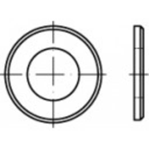Unterlegscheiben Innen-Durchmesser: 27 mm DIN 125 Stahl galvanisch verzinkt 50 St. TOOLCRAFT 105430