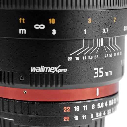 Weitwinkel-Objektiv Walimex Pro 35/1,4 Objektiv für Canon EF f/1 - 1.4 35 - 56 mm