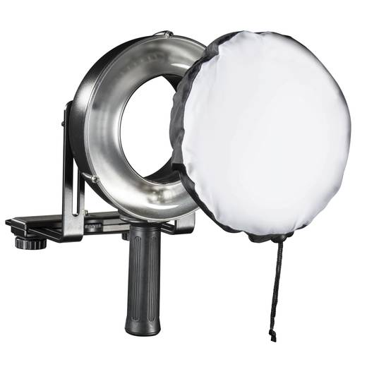 Ringblitz Walimex Pro GXR-400 Leitzahl bei ISO 100/50 mm=52