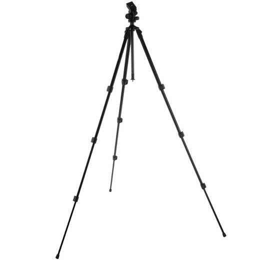 Dreibeinstativ Walimex 17226 1/4 Zoll, 3/8 Zoll Arbeitshöhe=55 - 153 cm Schwarz inkl. Tasche, Kugelkopf