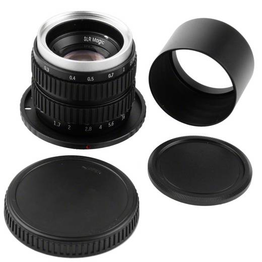 Weitwinkel-Objektiv SLR Magic 35/1,7 pour Olympus micro 4/3 f/1 - 1.7 35 - 70 mm