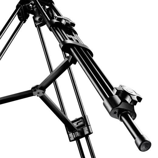 Dreibeinstativ Mantona Dolomit 2300 1/4 Zoll, 3/8 Zoll Arbeitshöhe=86 - 192 cm Schwarz inkl. Tasche
