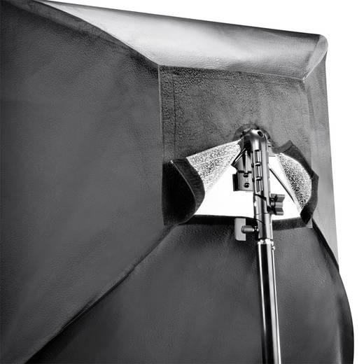 Blitzhalterung Walimex Set 4f. Blitzhalter inkl. Softbox 90x90cm