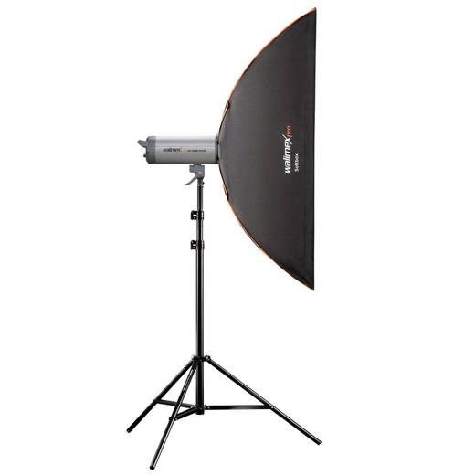Softbox Walimex Pro PLUS Orange Line (L x B x H) 46 x 30 x 120 cm 1 St.