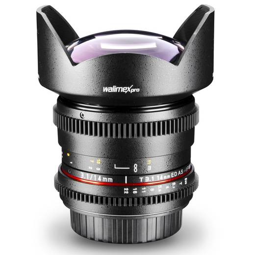 Weitwinkel-Objektiv Walimex Pro 14/3,1 VDSLR pour Olympus f/1 - 3.1 14 mm