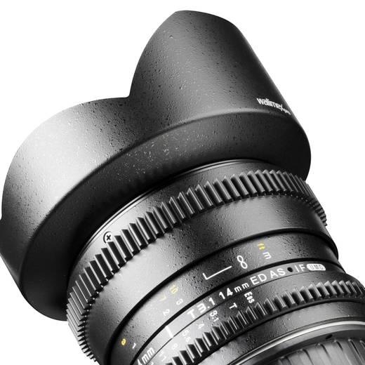 Weitwinkel-Objektiv Walimex Pro 14/3,1 Objektiv VDSLR für Olympus 4/3 f/1 - 3.1 14 mm
