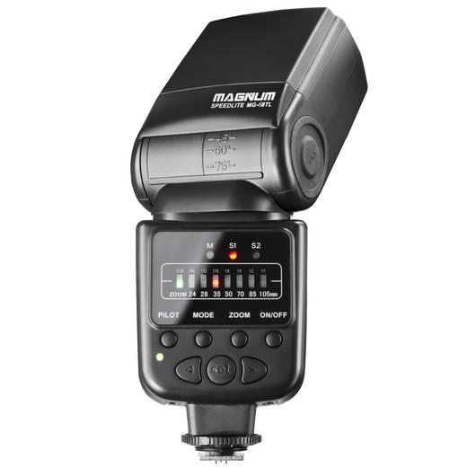 Aufsteckblitz Aputure MG-68 Passend für=Canon, Nikon Leitzahl bei ISO 100/50 mm=48