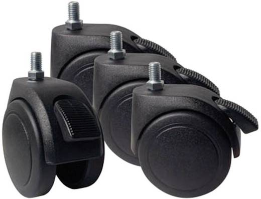 19 Zoll Netzwerkschrank-Rollensatz EFB Elektronik 691647 Schwarz