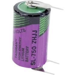 Špeciálny typ batérie 1/2 AA spájkovacie kolíky v tvare U lítiová, Tadiran Batteries SL 750 PT, 1100 mAh, 3.6 V, 1 ks