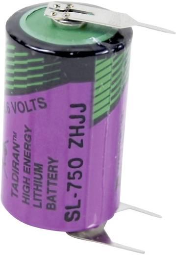 Spezial-Batterie 1/2 AA U-Lötpins Lithium Tadiran Batteries SL 750 PT 3.6 V 1100 mAh 1 St.