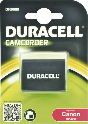 Kamera-Akku Duracell ersetzt Original-Akku BP-808 7.4 V 850 mAh BP-808