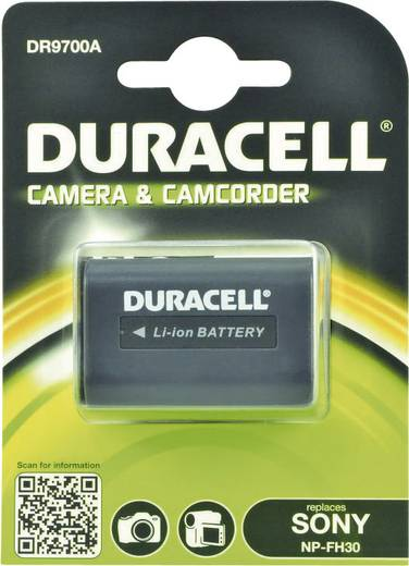 Kamera-Akku Duracell ersetzt Original-Akku NP-FH30 7.4 V 650 mAh
