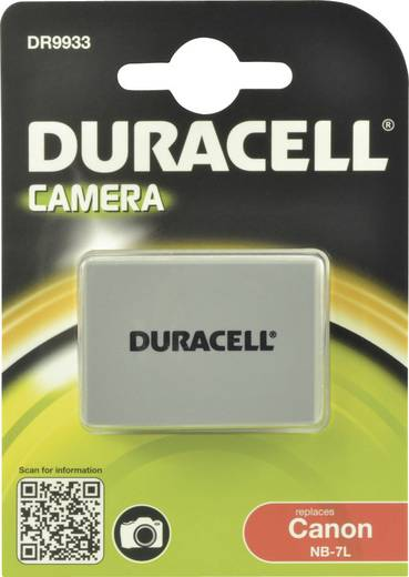Kamera-Akku Duracell ersetzt Original-Akku NB-7L 7.4 V 1000 mAh