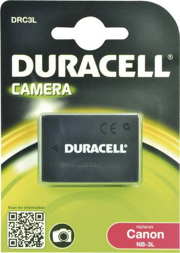 Kamera-Akku Duracell ersetzt Original-Akku NB-3L 3.7 V 820 mAh