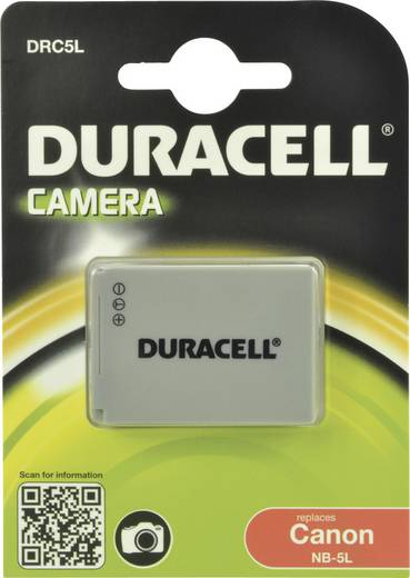 Kamera-Akku Duracell ersetzt Original-Akku NB-5L 3.7 V 820 mAh