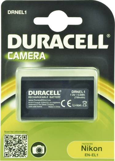 Kamera-Akku Duracell ersetzt Original-Akku NP-8 7.4 V 750 mAh EN-EL1