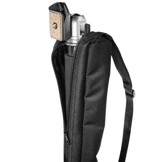 Einbeinstativ Walimex 16520 1/4 Zoll Arbeitshöhe=58 - 160 cm Schwarz inkl. Tasche