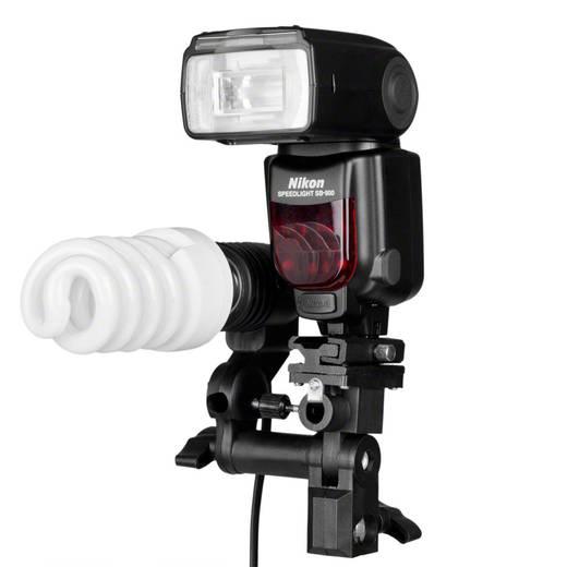 walimex Lampenhalterung E27 + Blitzschuh 17433 Walimex