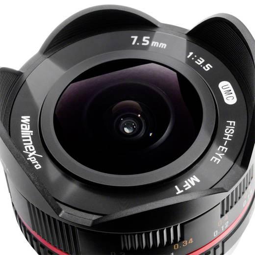 Fish-Eye-Objektiv Walimex Pro 7,5/3,5 Fish-Eye f/1 - 3.5 7.5 mm