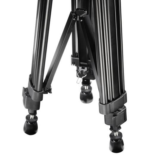 Dreibeinstativ Walimex VT-2210 1/4 Zoll Arbeitshöhe=78 - 188 cm Schwarz inkl. Tasche