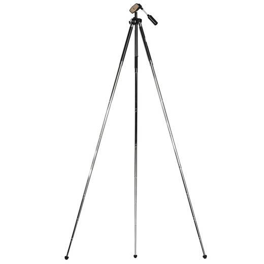 Dreibeinstativ Walimex 17595 1/4 Zoll Arbeitshöhe=26 - 118 cm Schwarz inkl. Tasche