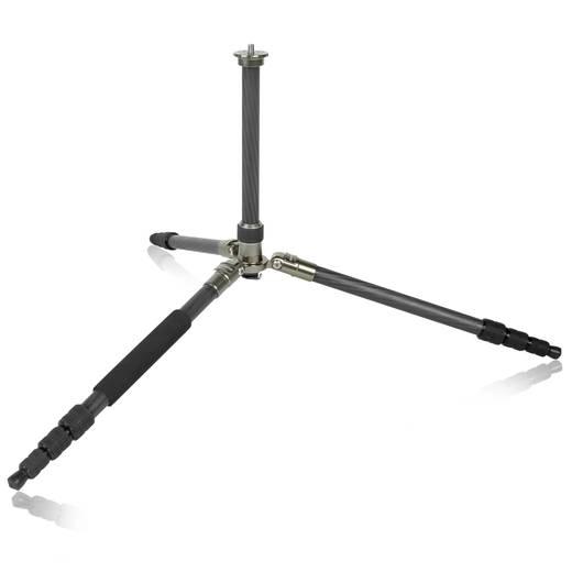 Dreibeinstativ Mantona Titanium Carbon Stativ 3/8 Zoll Arbeitshöhe=43 - 170 cm Dunkel-Grau inkl. Tasche, Kugelkopf