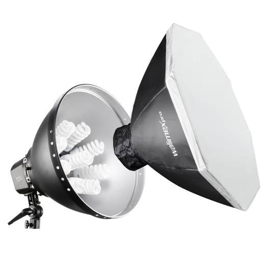 Fotolampe Walimex Pro Daylight 1260 mit Softbox, Ø 80cm 28 W